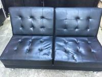 Black leather Sofabed •free delivery•