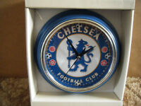 CHELSEA F.C, Quartz clock. New and supplied with battery.