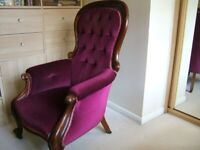 Original Victorian Spoonback Chair