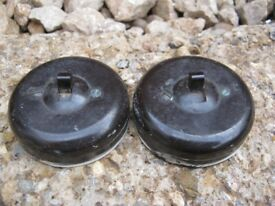 2x Vintage Rolls Bakelite Light Switches