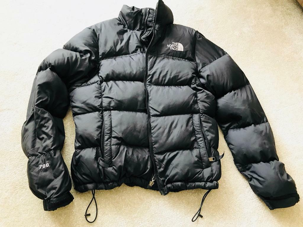 Women S North Face Padded Jacket 700 Black Small Excellent Condition