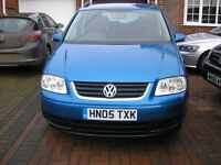 ( 2005) VW TOURAN 1.9 TDI SE MET/BLUE 7 SEATER ( ONE OWNER FSH 11 STAMPS IN SERVICE BOOK)