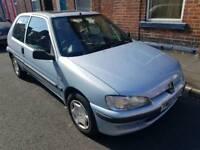 Peugeot 106 Independence, 1.1 petrol, 3 door hatchback, low milage and 12 months MOT