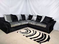 ** EXPRESS DELIVERY ** BRAND NEW VEGAS CORNER SOFA OR 3+2 SET ON SPECIAL OFFER WITH 1 YEAR WARRANTY