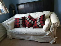 FREE sofa bed with removable washable covers cream