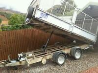 Ifor williams caged 12x6 tipping trailer