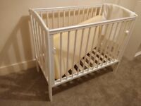 White space saver cot