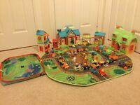 Happyland toy set with storage box