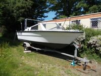 17Ft Morebas fast fisher boat and trailer