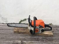 Stihl ms180 chainsaw (14 inch bar, new chain)