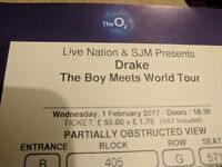 DRAKE TICKETS Feb 1st @ o2