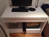 White High Gloss Lacquer Desk Table