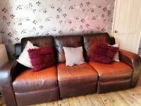 Free fabulous Natuzzi leather sofa and armchair