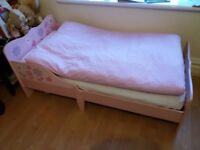 cute solid bed for a girl