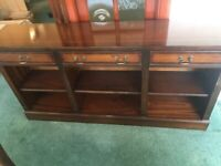 Wooden dresser | Wooden sideboard | Wide, wooden drawer and shelves unit