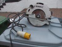 110 VOLT DEWALT SAW MODEL DW62