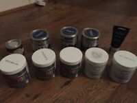 Free paint sample pots - greys and blues