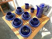 Hornsea Heirloom coffee set in rare blue