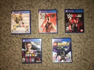 Package of 5 PS4 games