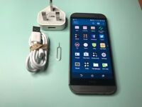 HTC M8 gunmetal grey 16GB unlocked! Very good condition