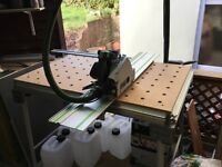 FESTOOL ts55 with crosscut bench and extractor