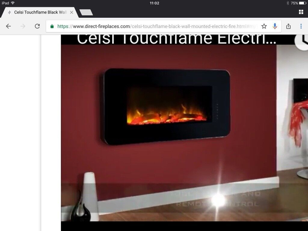 Colour Changing Celsius Wall Mounted Electric Fire