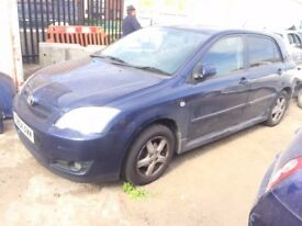 BREAKING TOYOTA COROLLA CAR PARTS SPARES BLUE 02-06