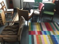 x4 Parker Knoll armchairs