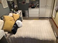 Small double bed frame and mattresse only 2 years old