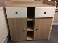 Baby's Changing Unit (Beech) Nursery Chest Table Furniture with Large Storage Space
