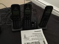Panasonic digital cordless phones with answering system.