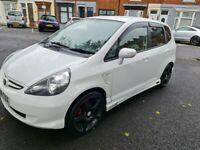HONDA FIT WHITE 2006 1.3 PETROL 84 BHP WITH 66 K MOTORWAY MILES ON THE
