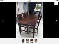Lombok Malang table and 6 dining chairs