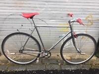 Custom built single speed road bike