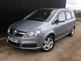 2007 Vauxhall Zafira 1.6 i 16v Club 5dr 2 Keys, Service History, 12 Months MOT , 1 Month Warranty