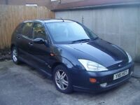 Ford Focus 1.8 Zetec For Sale. Full 12 months MOT and dark blue in colour