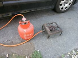 Calor Gas Bottle With Gas Hose and Cooker Ring Weymouth