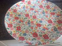 cath kidston mews ditsy plates x 4 and matching mugs x 2