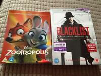 Zootropolis Blu ray & The Blacklist season 1 DVD