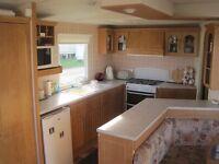 Static caravan for sale at Crimdon Dene, Blackhall. Good condition, 3 bedroom 'van on super site.