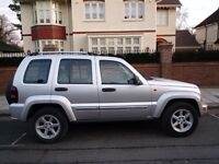 SUPERB 2005 CHEROKEE 2.8 TD LIMITED AUTOMATIC FSH LEATHER NEW C/B W/P TURBO PADS S/V