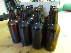 Brown glass 500ml beer bottles for home brewing