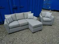 Immaculate Grey Corner Sofa+Matching Armchair *Like New Condition*