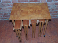 Retro coffee tables x set of 5 foldable ones (Delivery)