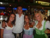 Looking for full time and part time Bar staff for fun team @ Octoberfest Pub, must live near SW6!