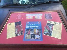 framed photo of aberdeen footballclub
