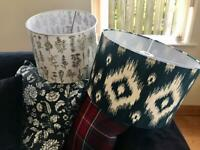 Two large lampshades