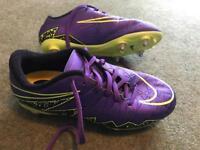 Nike Hypervenom - Purple/Yellow - size 4