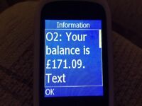 O2 SIM card pay as you go with £171 credit