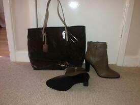 Designer bag and leather boots for sale